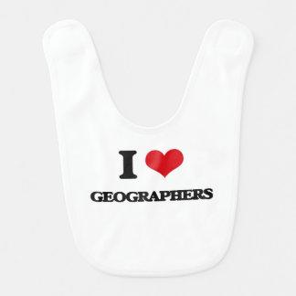I love Geographers Baby Bibs