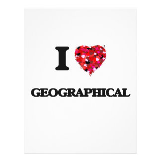 I Love Geographical 21.5 Cm X 28 Cm Flyer
