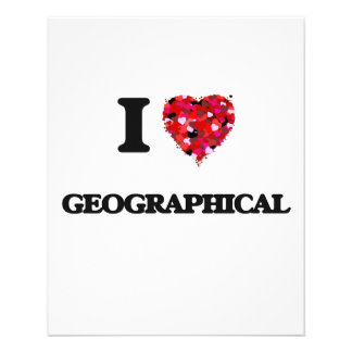 I Love Geographical 11.5 Cm X 14 Cm Flyer