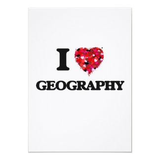 I Love Geography 13 Cm X 18 Cm Invitation Card