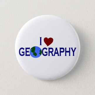 I Love Geography 6 Cm Round Badge