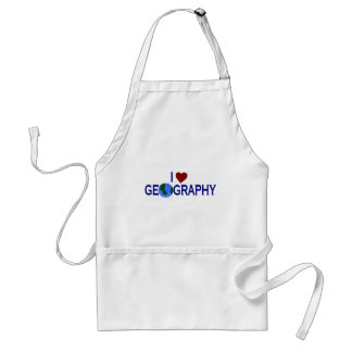 I Love Geography Adult Apron