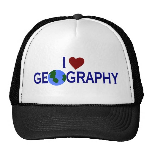I Love Geography Trucker Hats