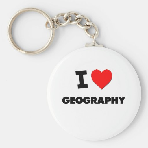 I Love Geography Key Chain