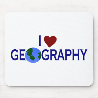 I Love Geography Mouse Mat
