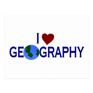 I Love Geography Postcard