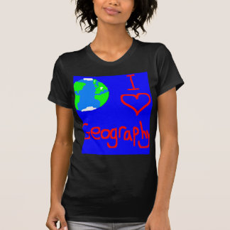 i love geography tie T-Shirt