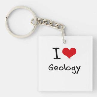 I Love Geology Single-Sided Square Acrylic Keychain