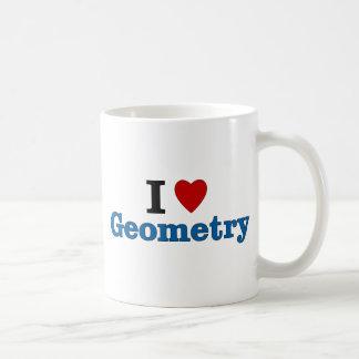 I Love Geometry Basic White Mug