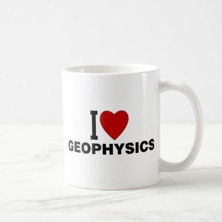 I Love Geophysics Basic White Mug