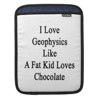 I Love Geophysics Like A Fat Kid Loves Chocolate iPad Sleeve
