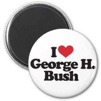 I Love George H Bush 6 Cm Round Magnet