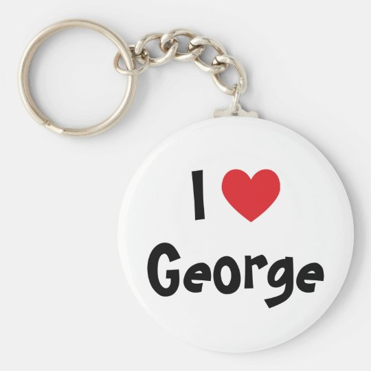 I Love George Key Ring