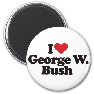 I Love George W Bush 6 Cm Round Magnet