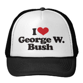 I Love George W Bush Cap