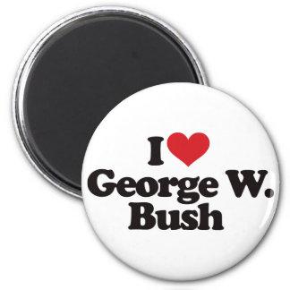 I Love George W Bush Fridge Magnets