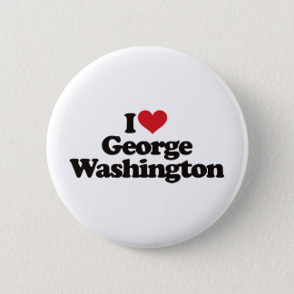 I Love George Washington 6 Cm Round Badge