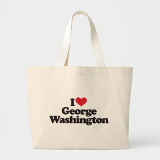 I Love George Washington Large Tote Bag