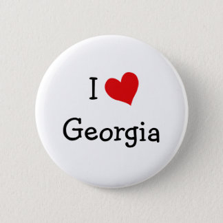I Love Georgia 6 Cm Round Badge