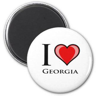 I Love Georgia 6 Cm Round Magnet