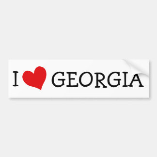 I Love Georgia Bumper Sticker