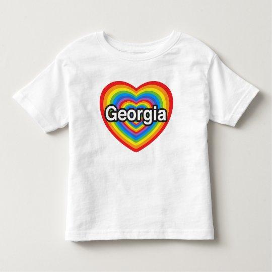 I love Georgia. I love you Georgia. Heart Toddler T-Shirt