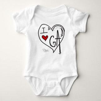 """I Love Georgia"" Kids Apparel Infant Creeper"