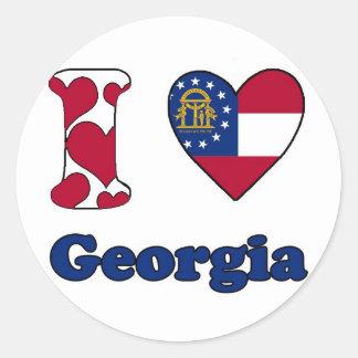 I love Georgia Round Sticker