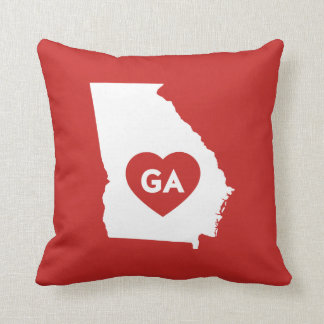 I Love Georgia State Throw Pillow
