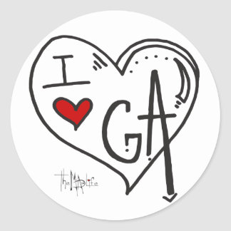 """I Love Georgia"" Sticker"