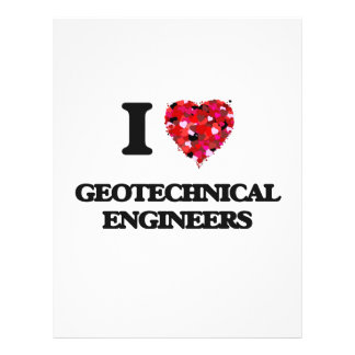 I love Geotechnical Engineers 21.5 Cm X 28 Cm Flyer