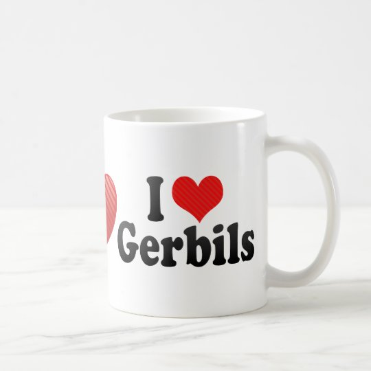 I Love Gerbils Coffee Mug