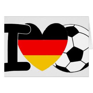 I Love German Football Greeting Card