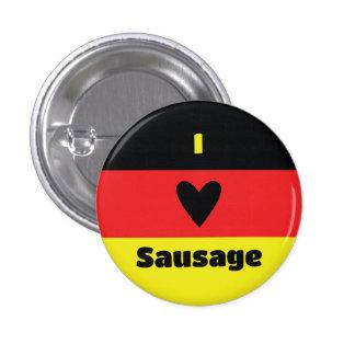 I Love German Sausage Button
