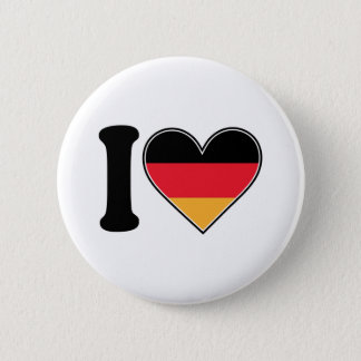I Love Germany 6 Cm Round Badge
