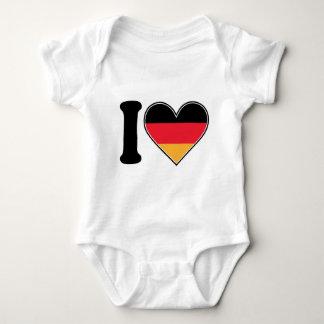 I Love Germany Baby Bodysuit