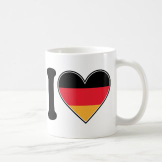 I Love Germany Basic White Mug