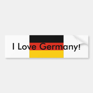 I Love Germany! bumper sticker