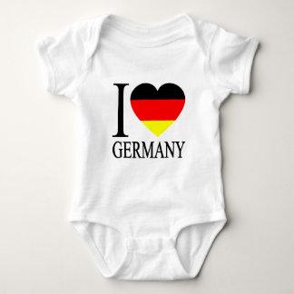 I Love Germany German Flag Heart Baby Bodysuit