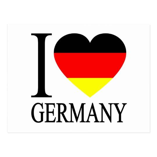 I Love Germany German Flag Heart Postcard | Zazzle.co.uk