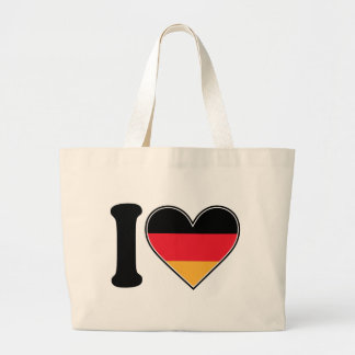 I Love Germany Large Tote Bag
