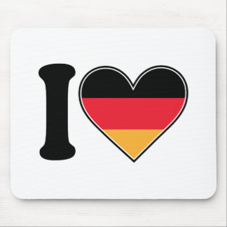I Love Germany Mouse Pad
