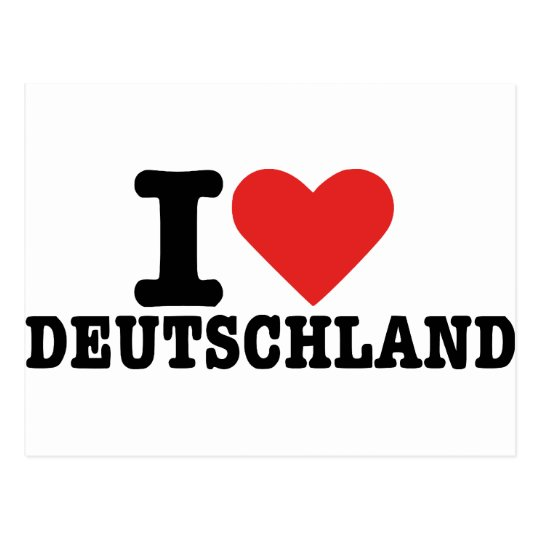 I love Germany Postcard