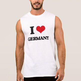 I love Germany Sleeveless Shirt
