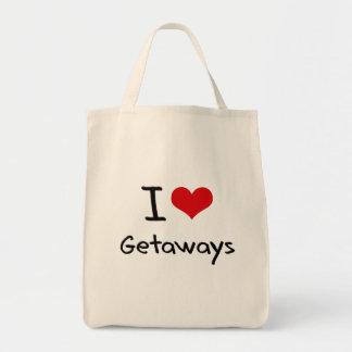 I Love Getaways Tote Bags