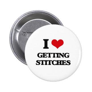 I love Getting Stitches 6 Cm Round Badge