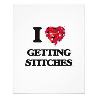 I love Getting Stitches 11.5 Cm X 14 Cm Flyer