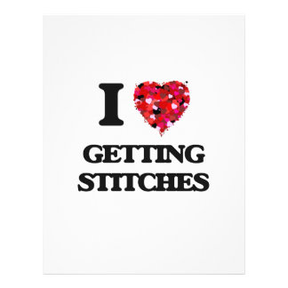 I love Getting Stitches 21.5 Cm X 28 Cm Flyer