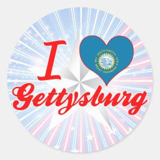 I Love Gettysburg, South Dakota Round Sticker