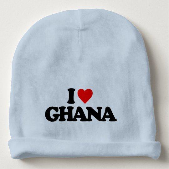 I LOVE GHANA BABY BEANIE